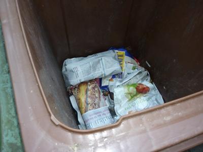 Bioabfall eingepackt
